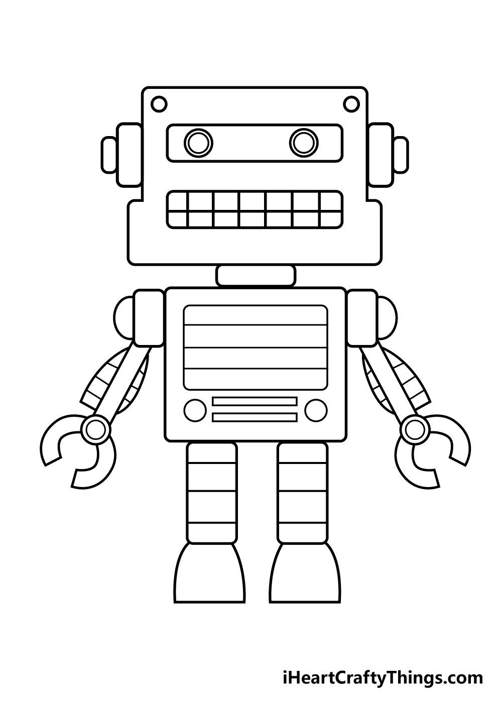 robot drawing step 7