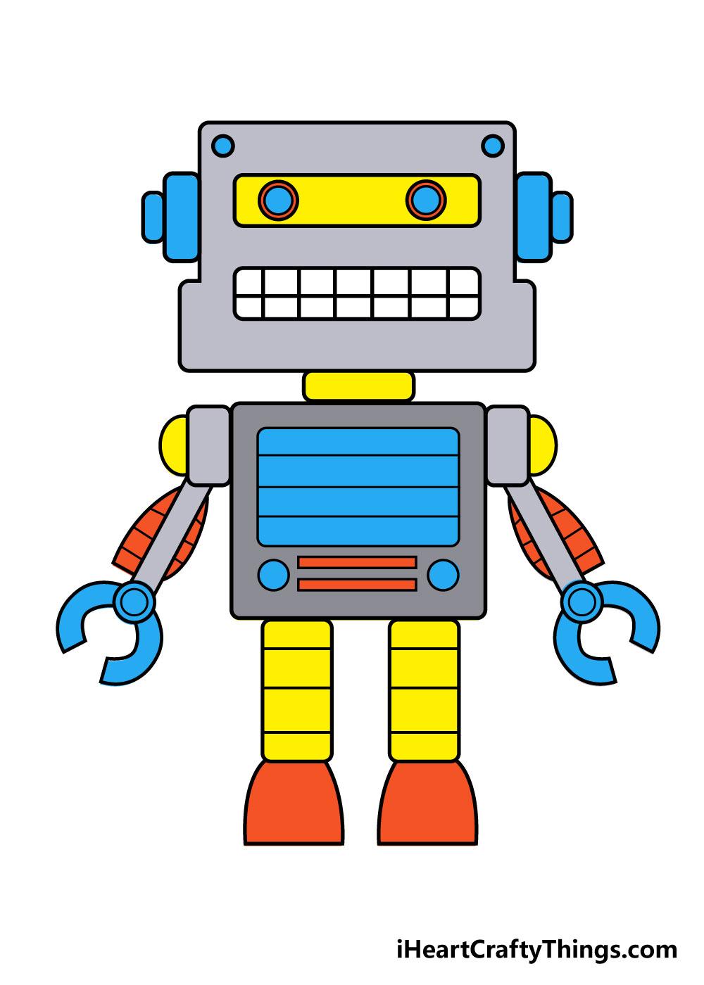 robot drawing step 8