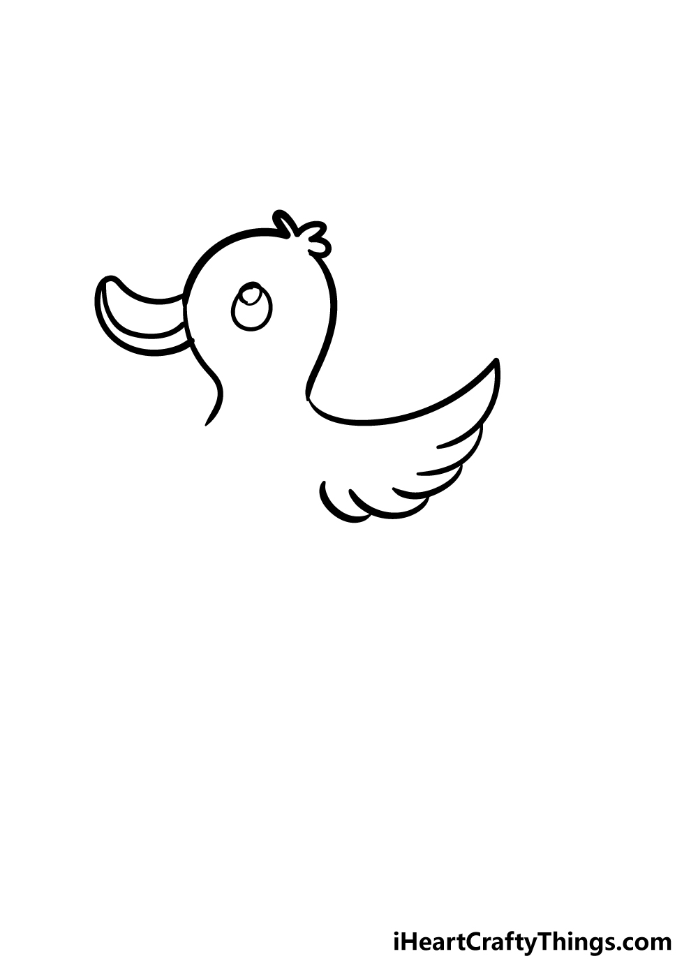duck drawing step 4