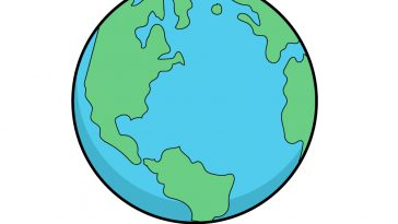 how to draw earth image