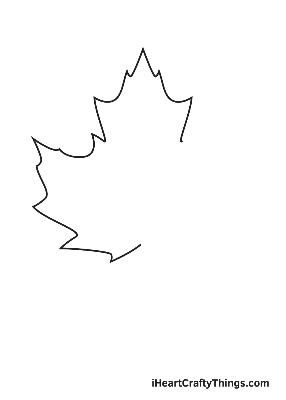 fall leaves drawing step 4