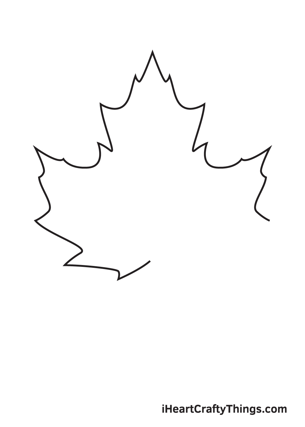 fall leaves drawing step 5