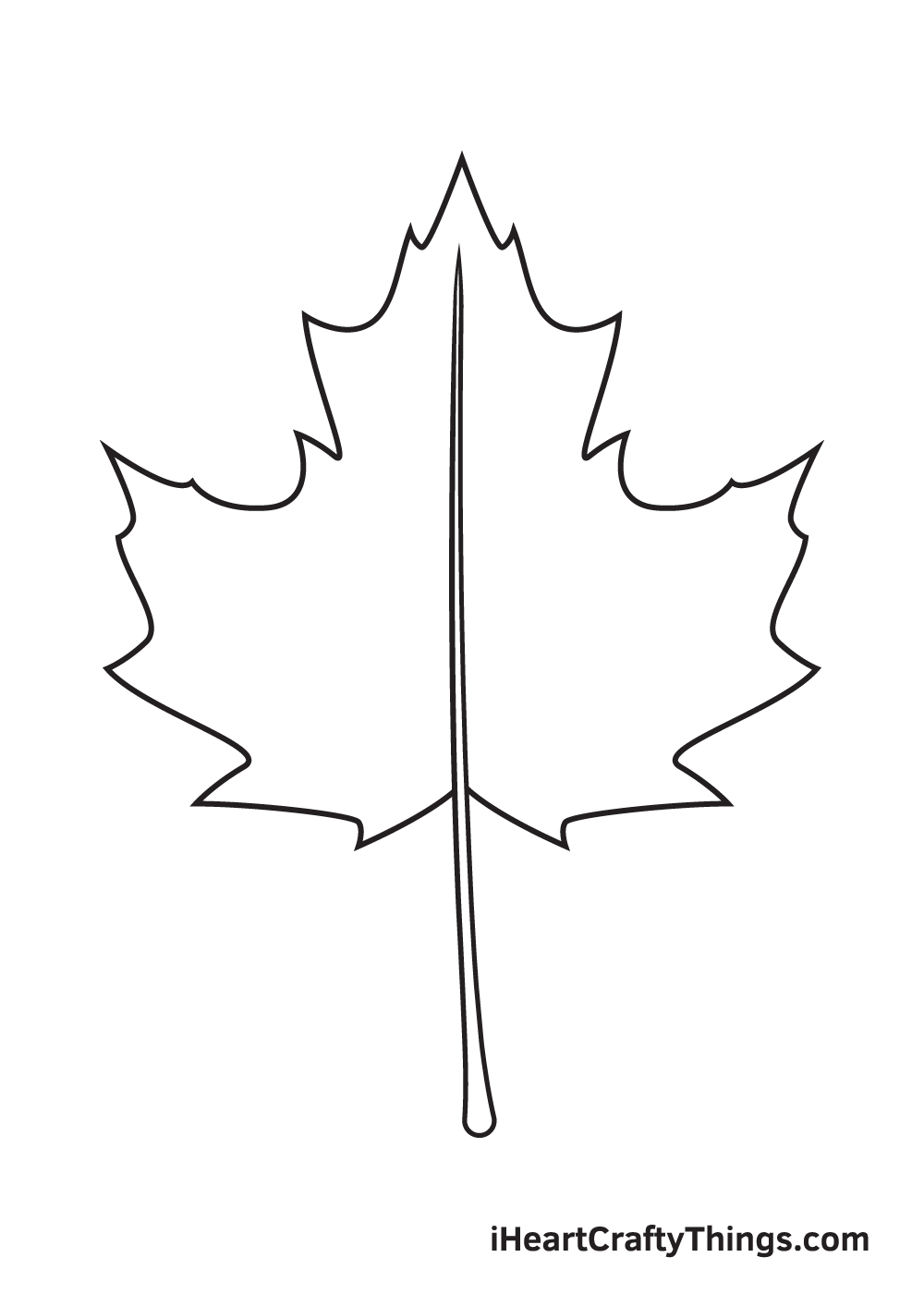 fall leaves drawing step 7