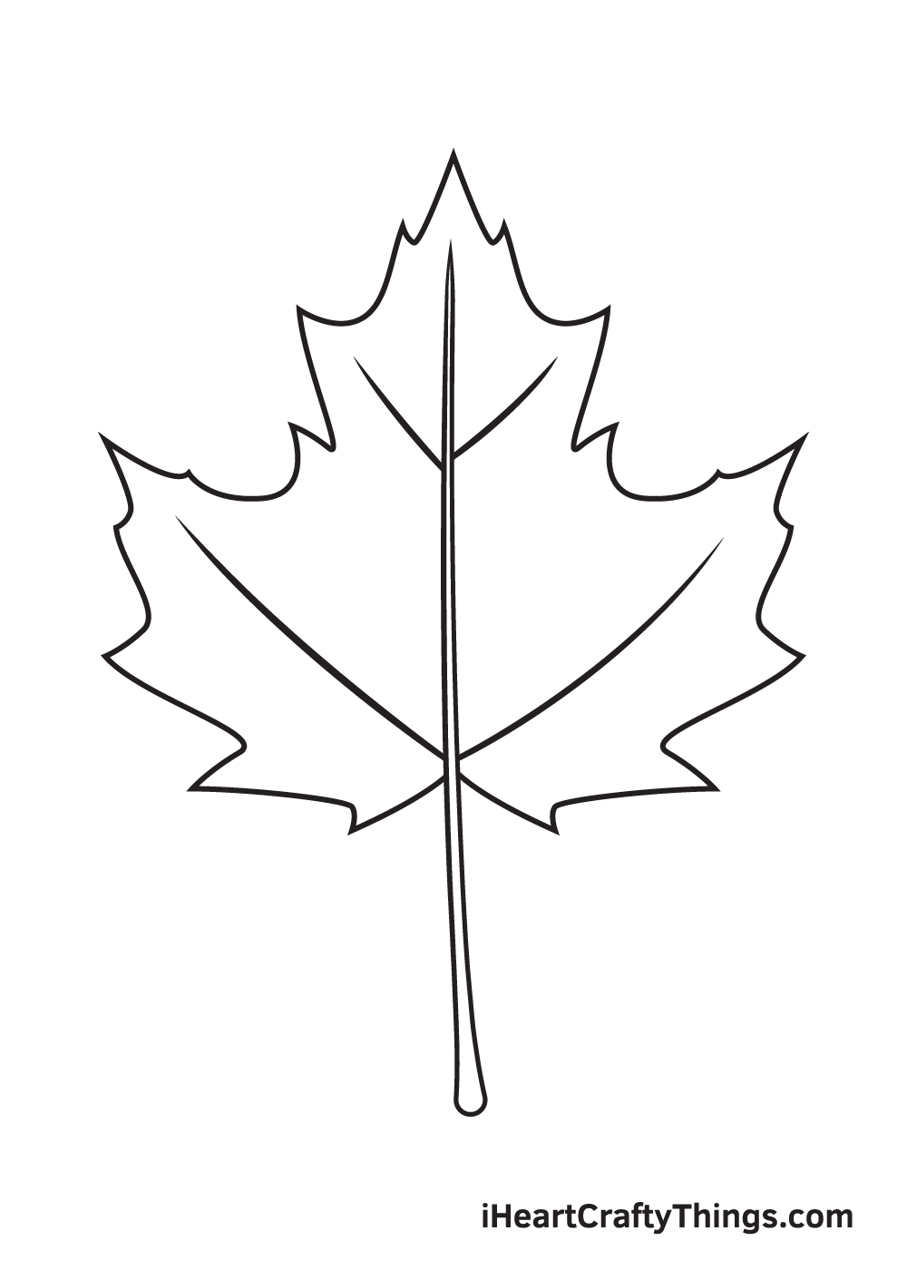 fall leaves drawing step 8