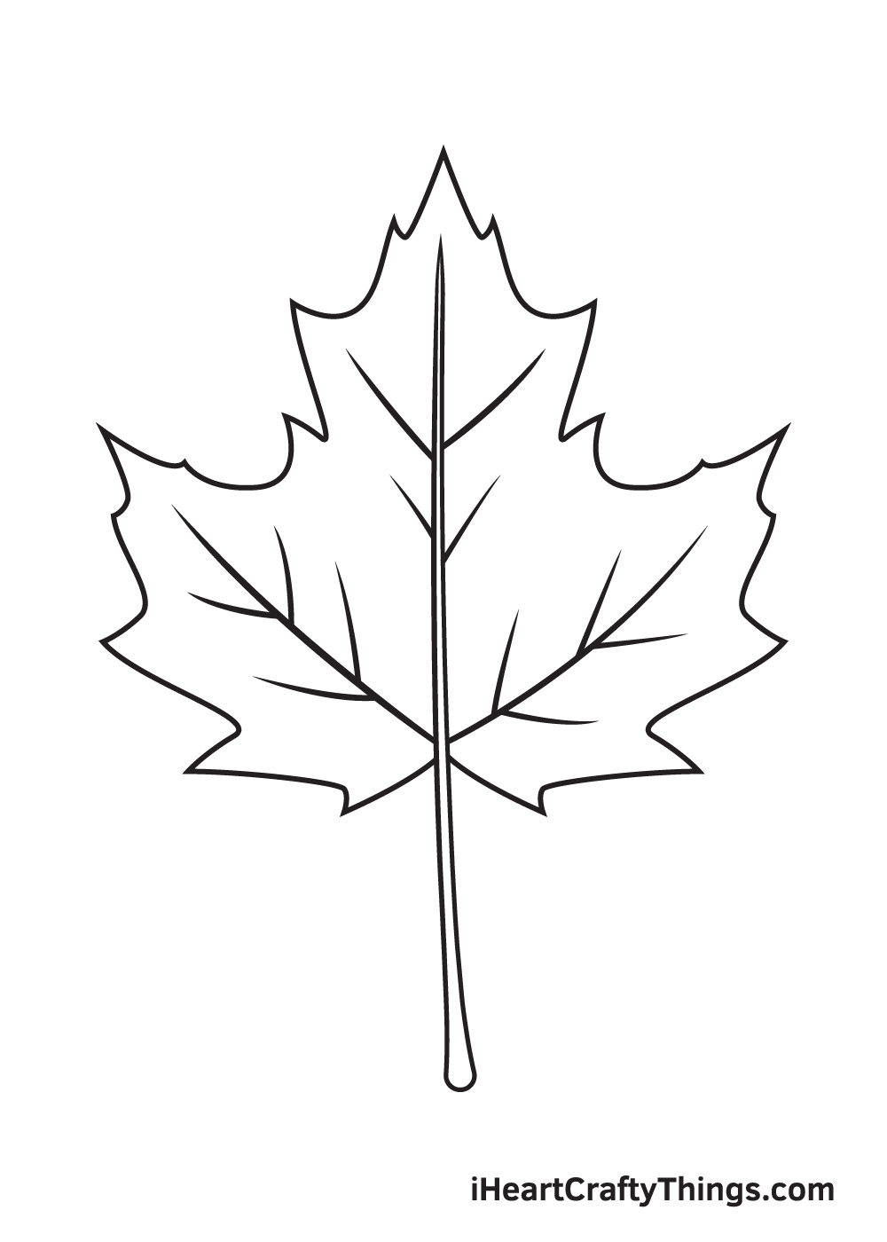 fall leaves drawing step 9