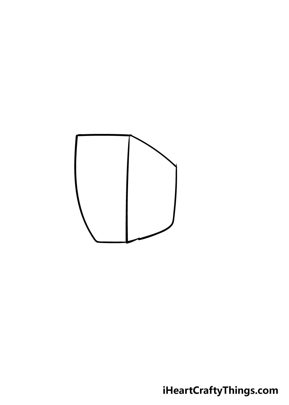 fist drawing step 1