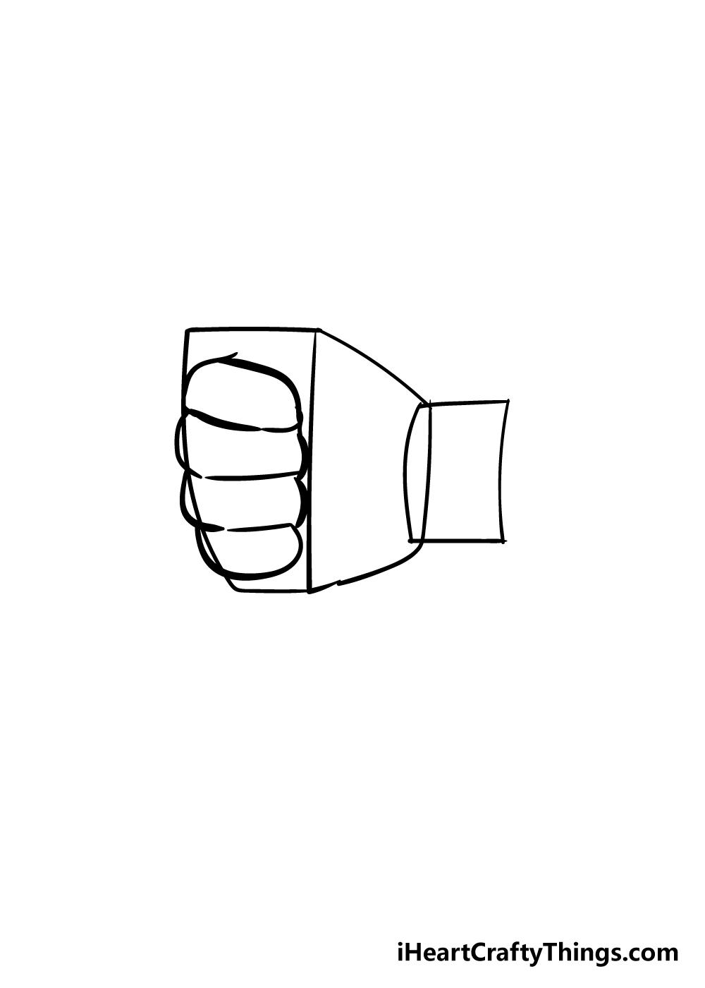 fist drawing step 2