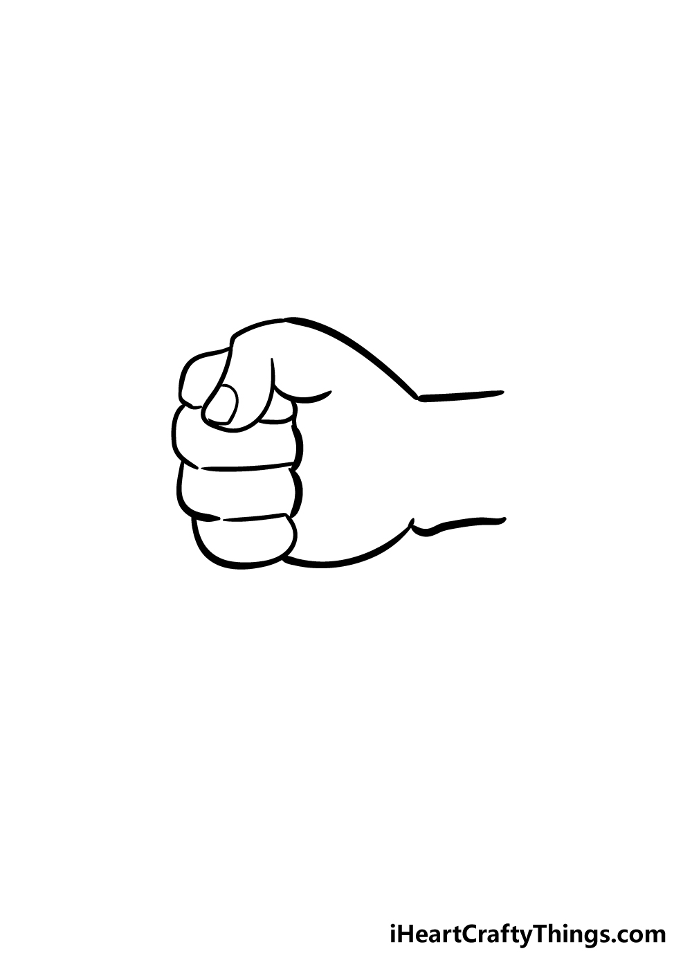 fist drawing step 4