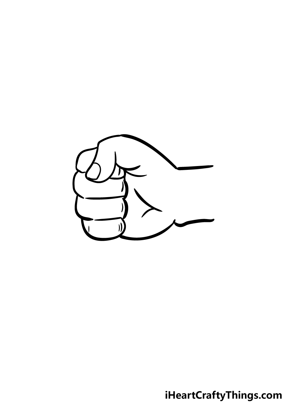 fist drawing step 5