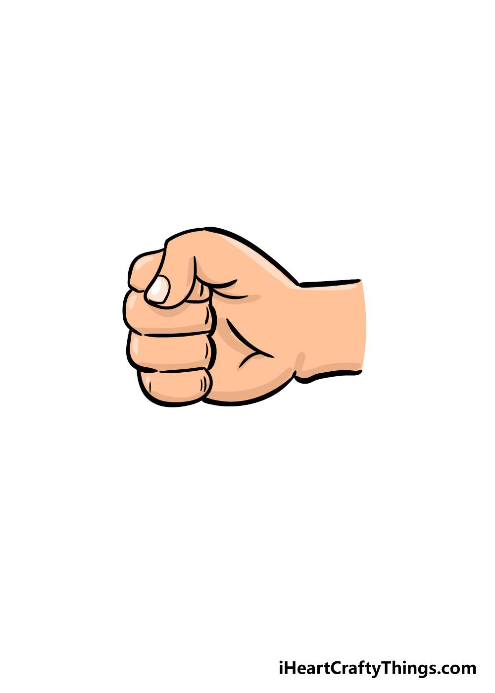 fist drawing step 6
