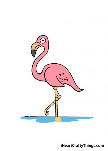 how to draw flamingo image