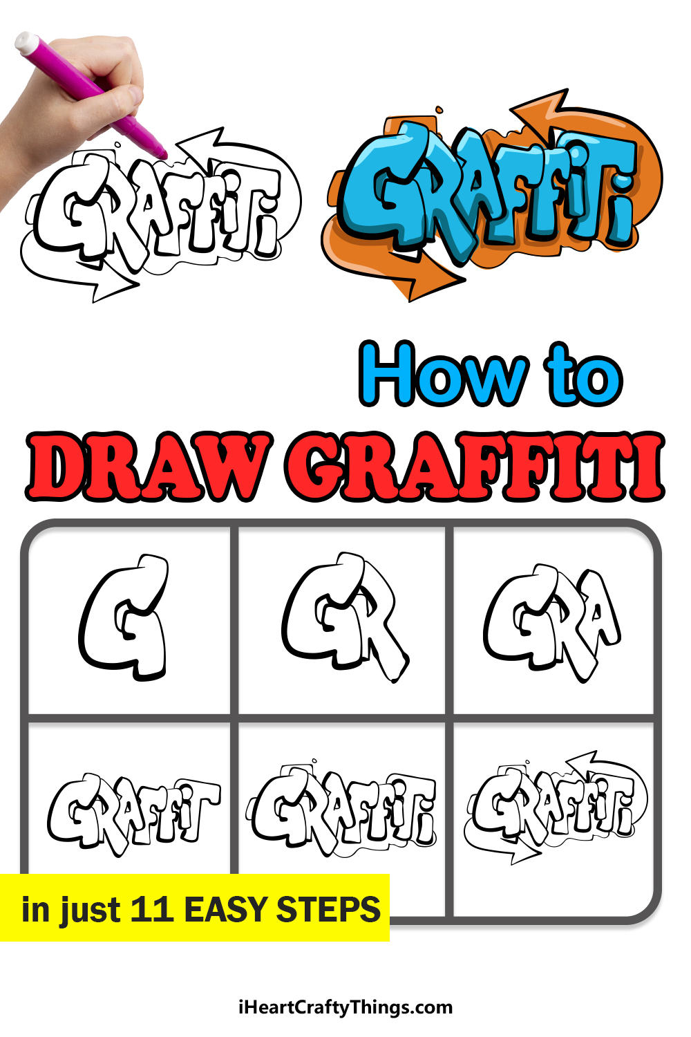 how to draw graffiti in 11 easy steps