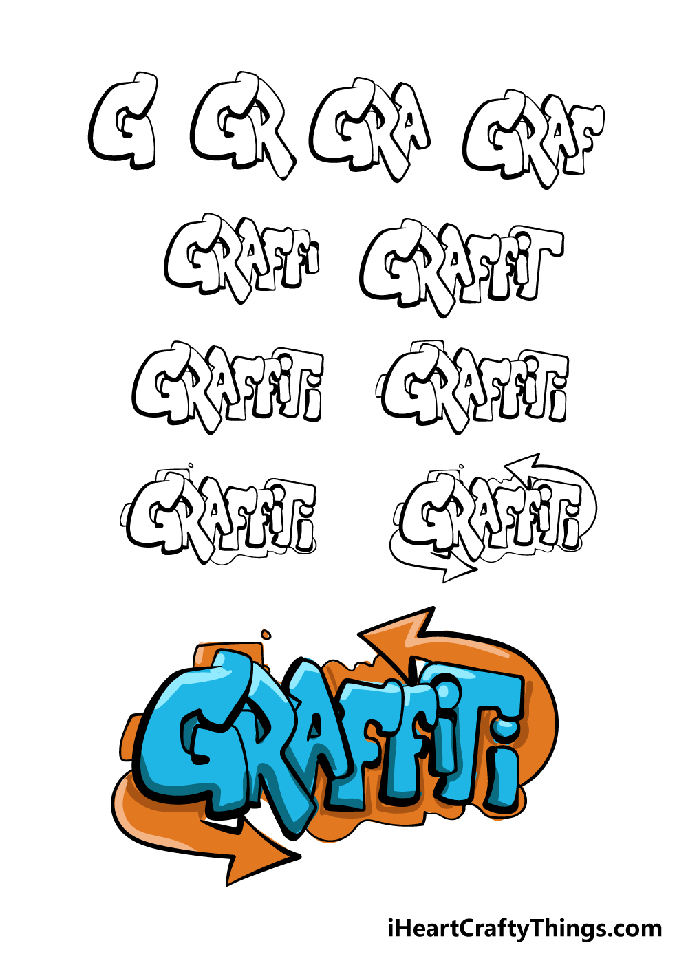 how to draw graffiti in 11 steps