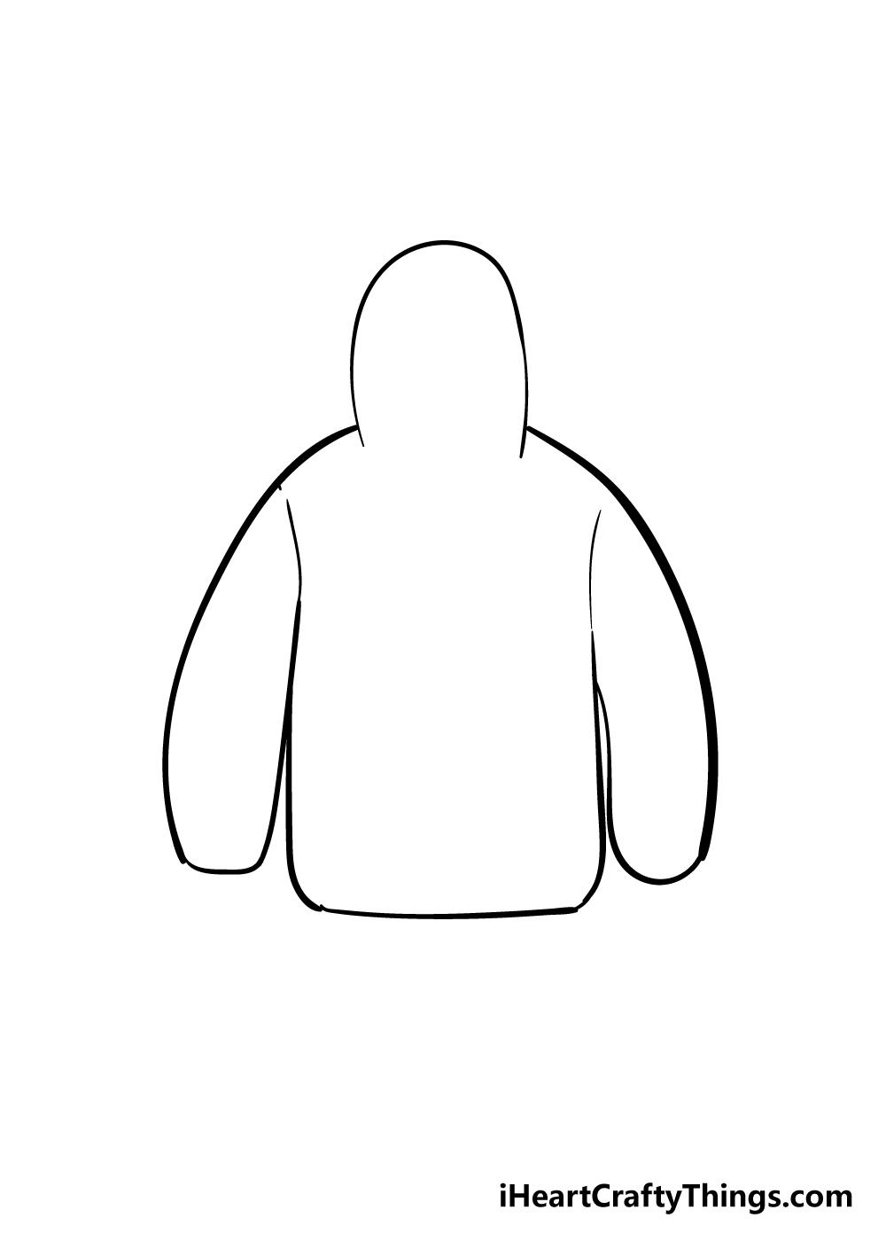 drawing hoodie step 3