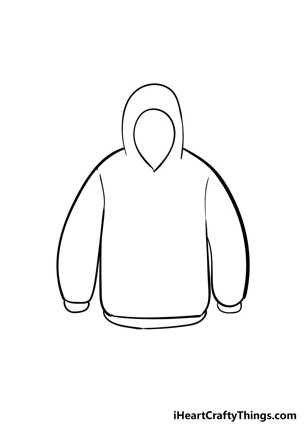 drawing hoodie step 4