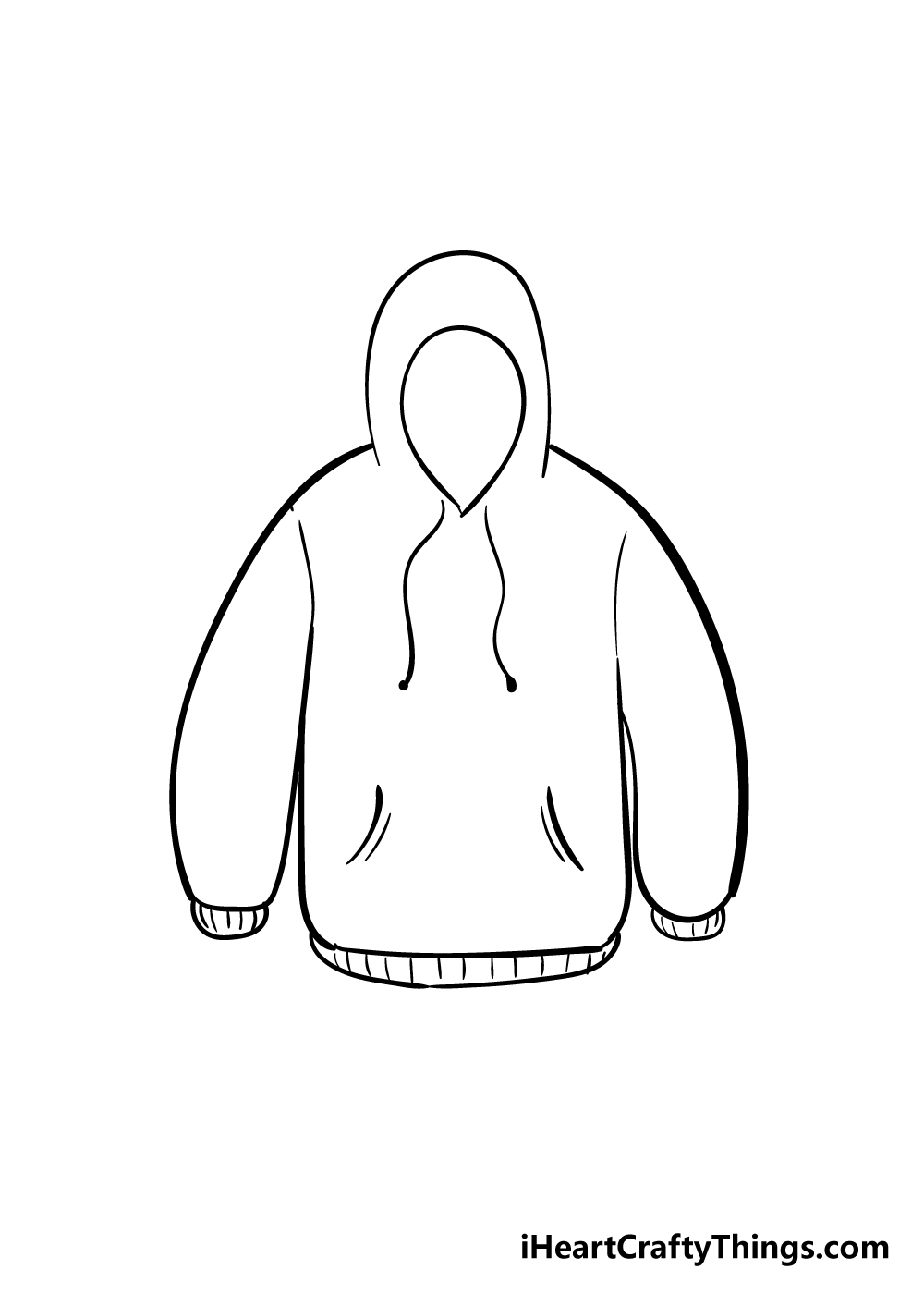 drawing hoodie step 5