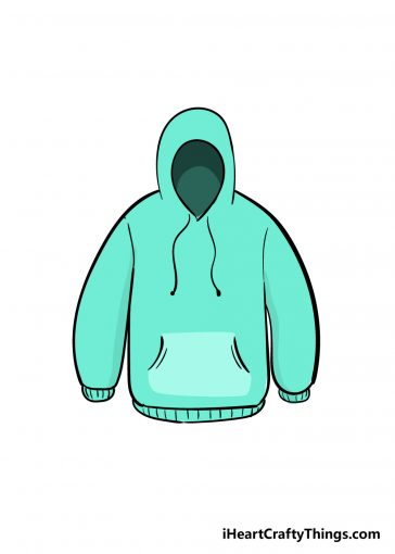 how to draw hoodie image