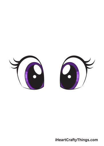 how to draw cute eyes image