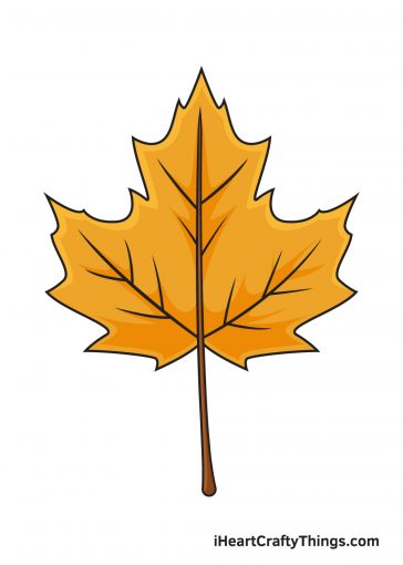 how to draw autumn leaves image