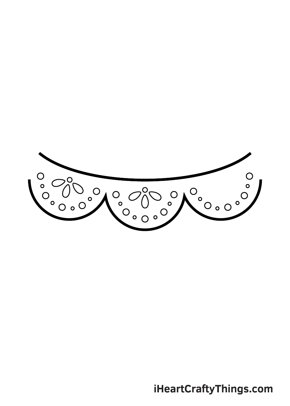 lace drawing step 8
