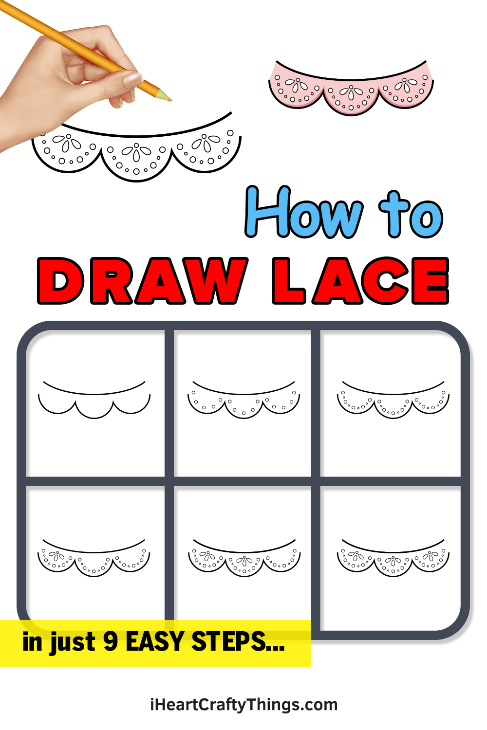 how to draw lace in 9 easy steps