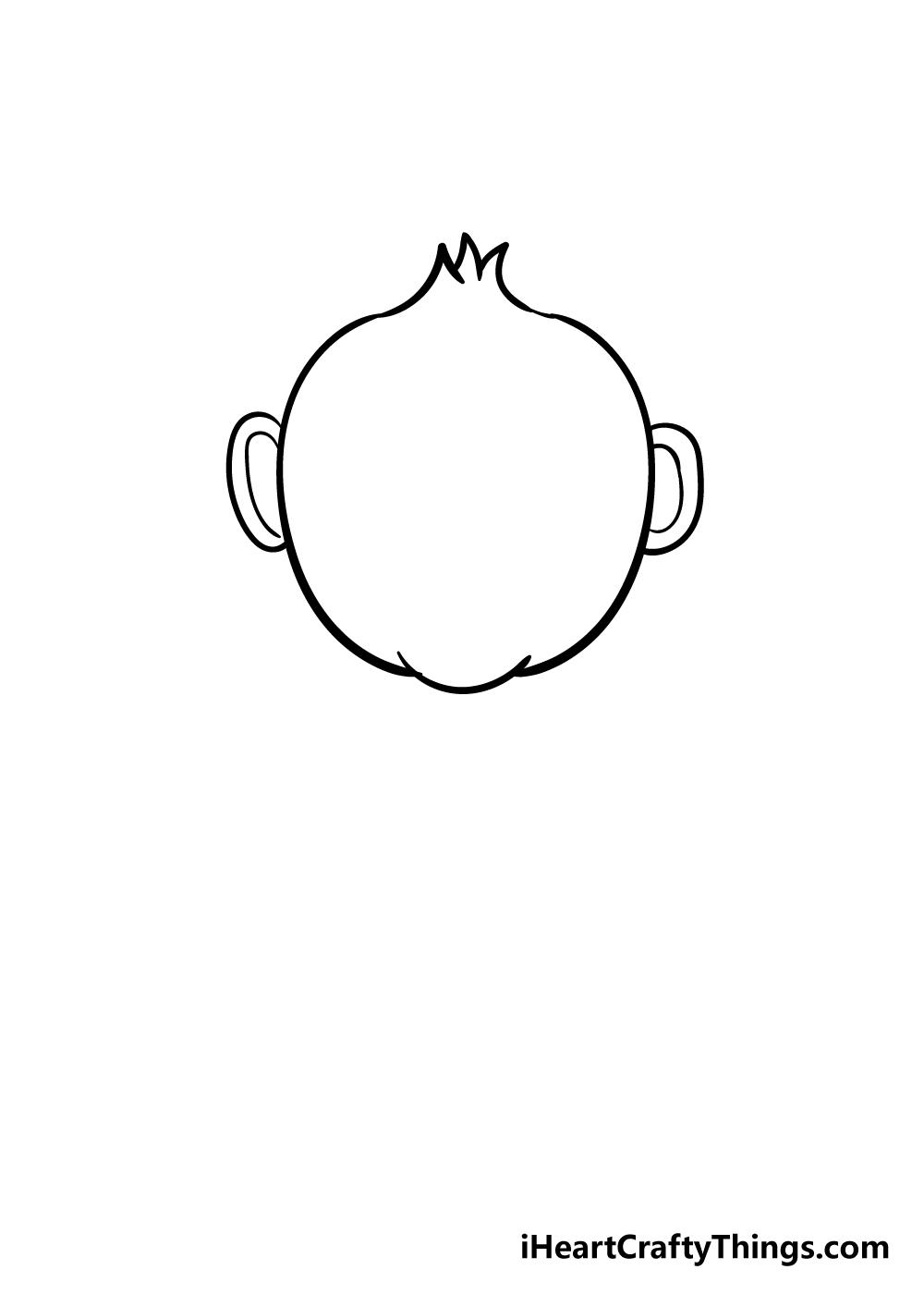 monkey drawing step 3