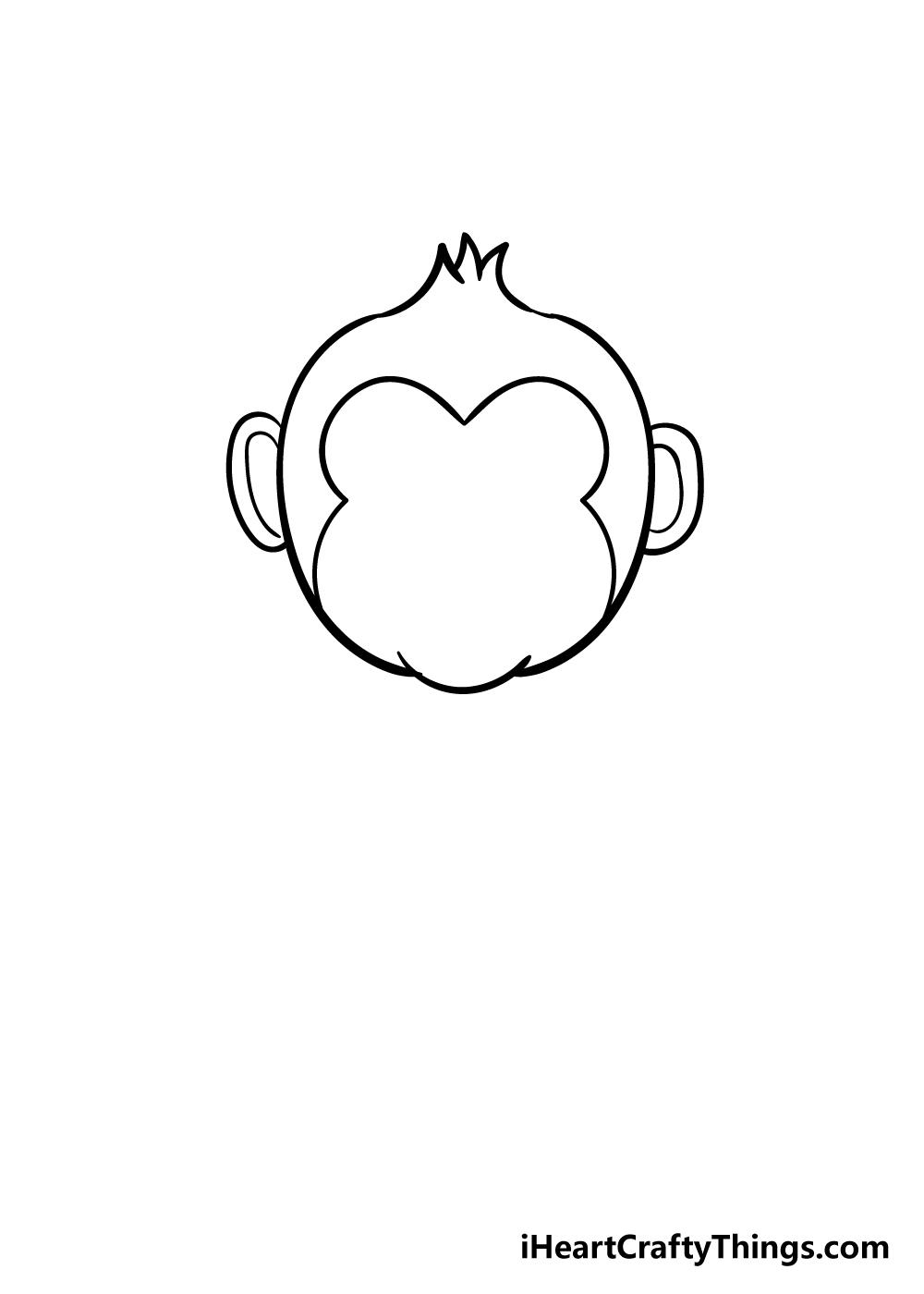 monkey drawing step 4
