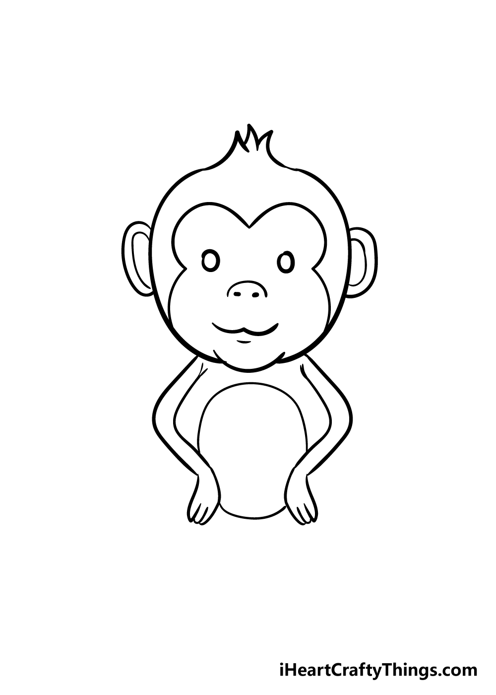 monkey drawing step 6