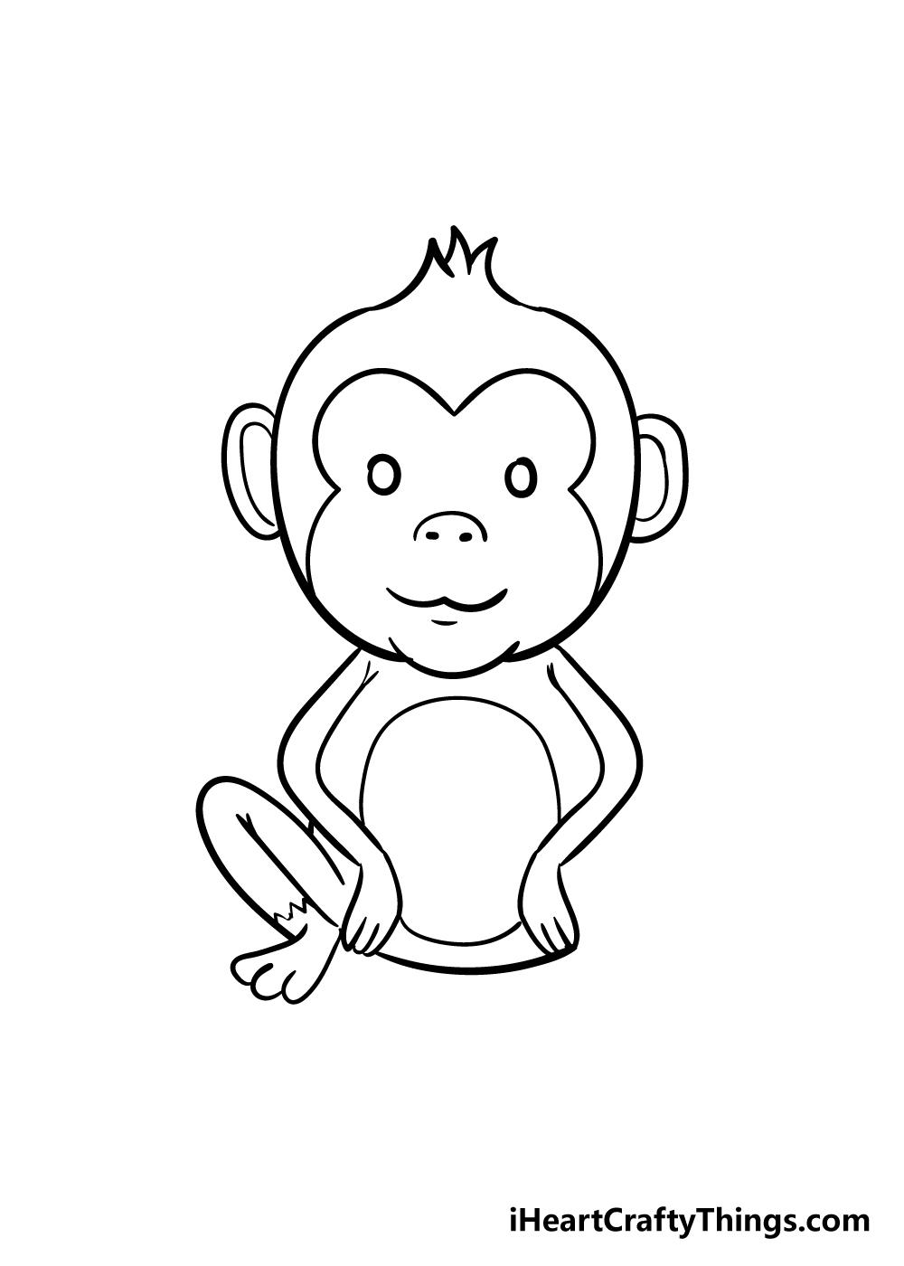 monkey drawing step 7