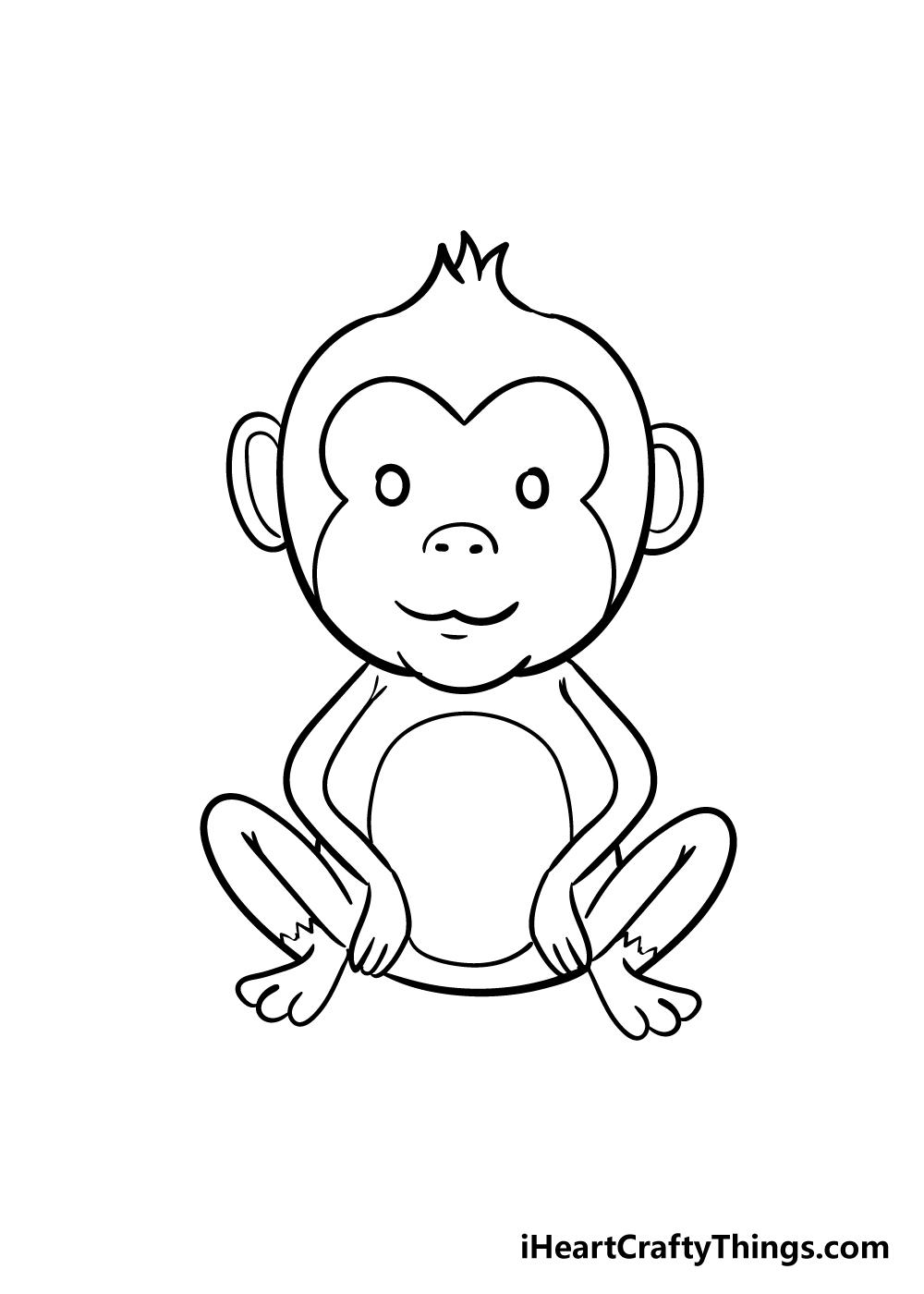 monkey drawing step 8