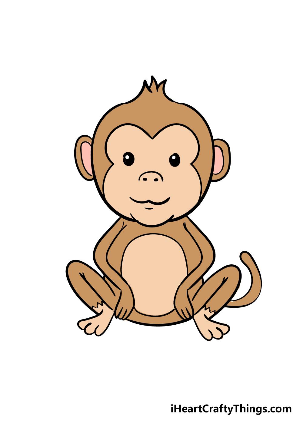 monkey drawing step 9