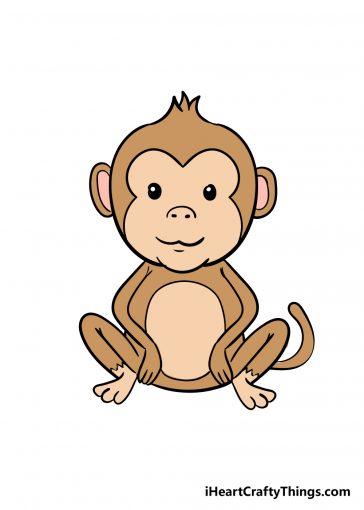 how to draw monkey image