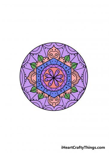 how to draw mandala image