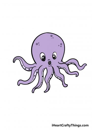 how to draw octopus image