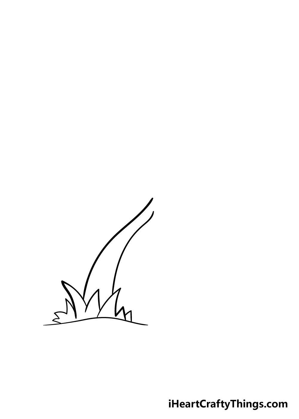 palm tree drawing step 3