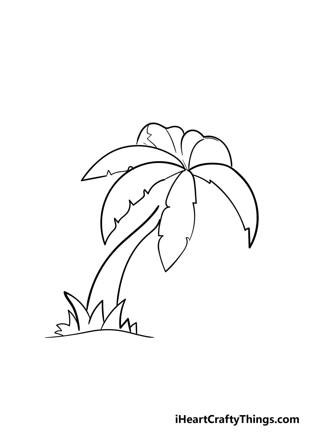 palm tree drawing step 5