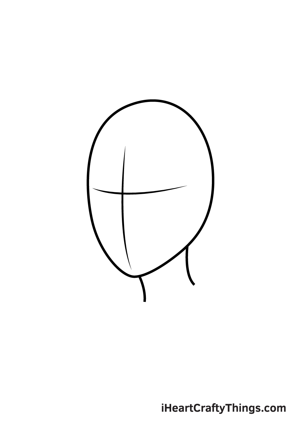 realistic hair drawing step 1