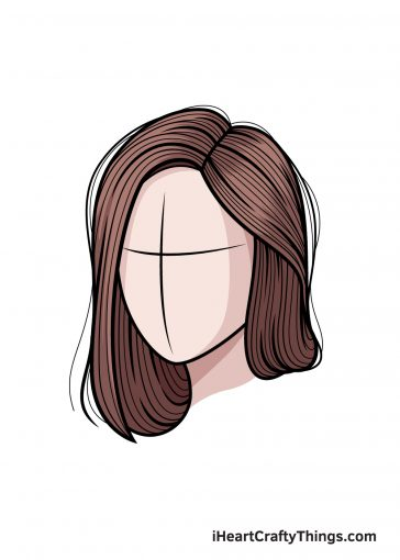 how to draw realistic hair image