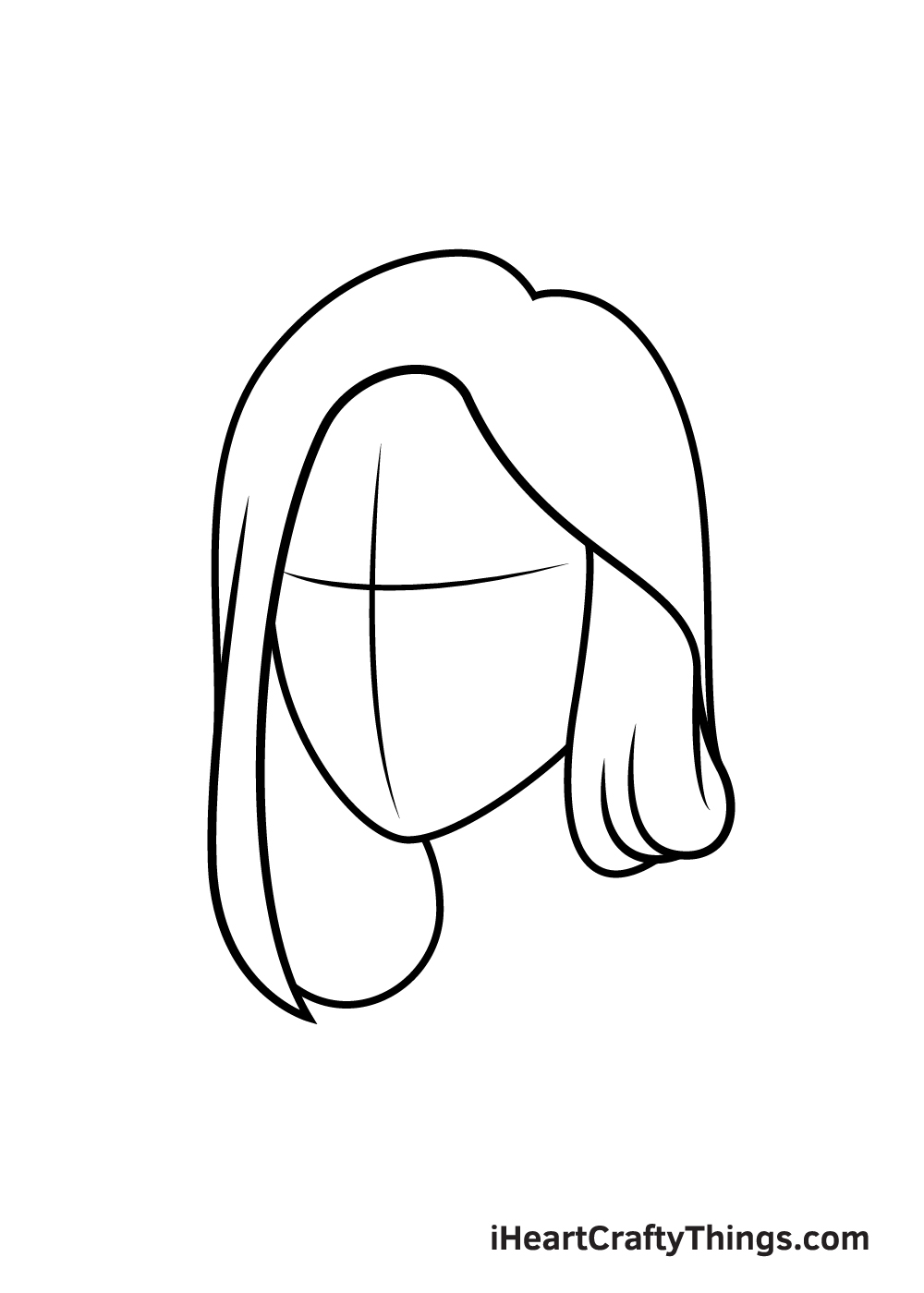 realistic hair drawing step 2