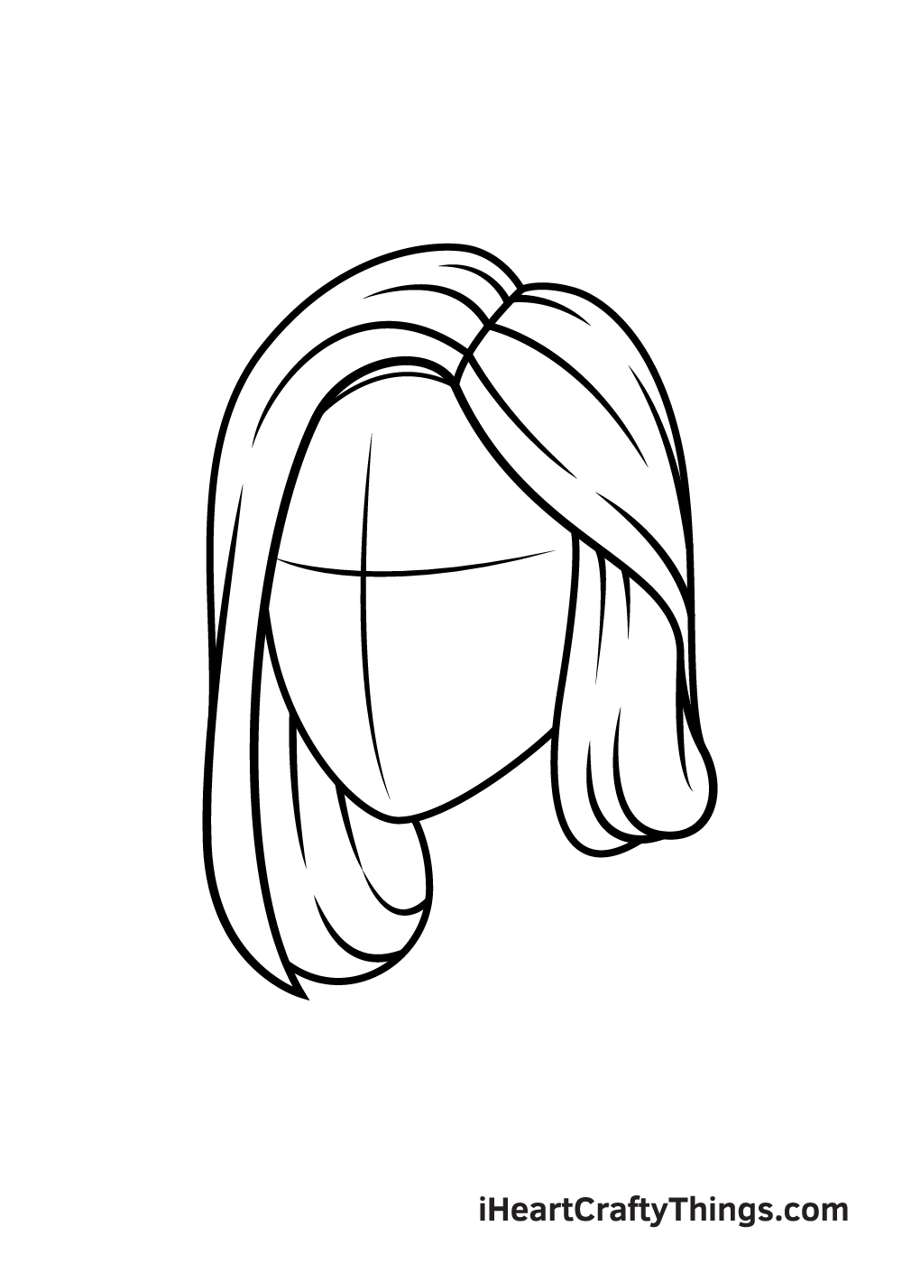 realistic hair drawing step 5