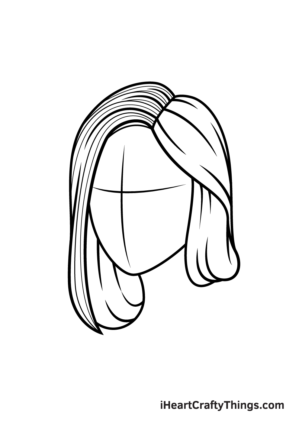 realistic hair drawing step 6