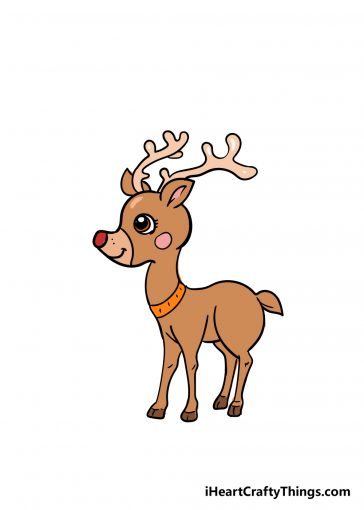 how to draw a reindeer image