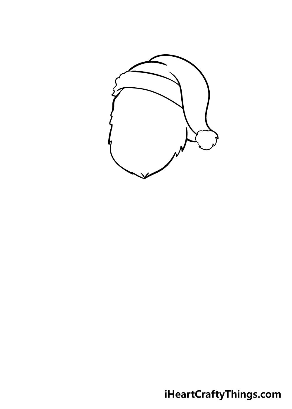 santa drawing step 2