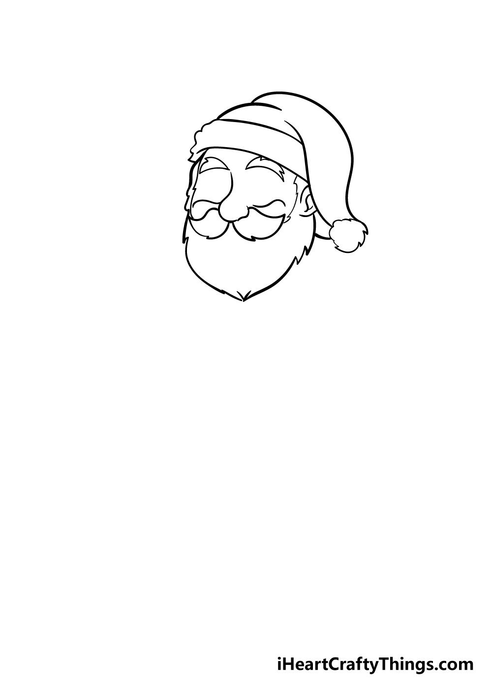 santa drawing step 3