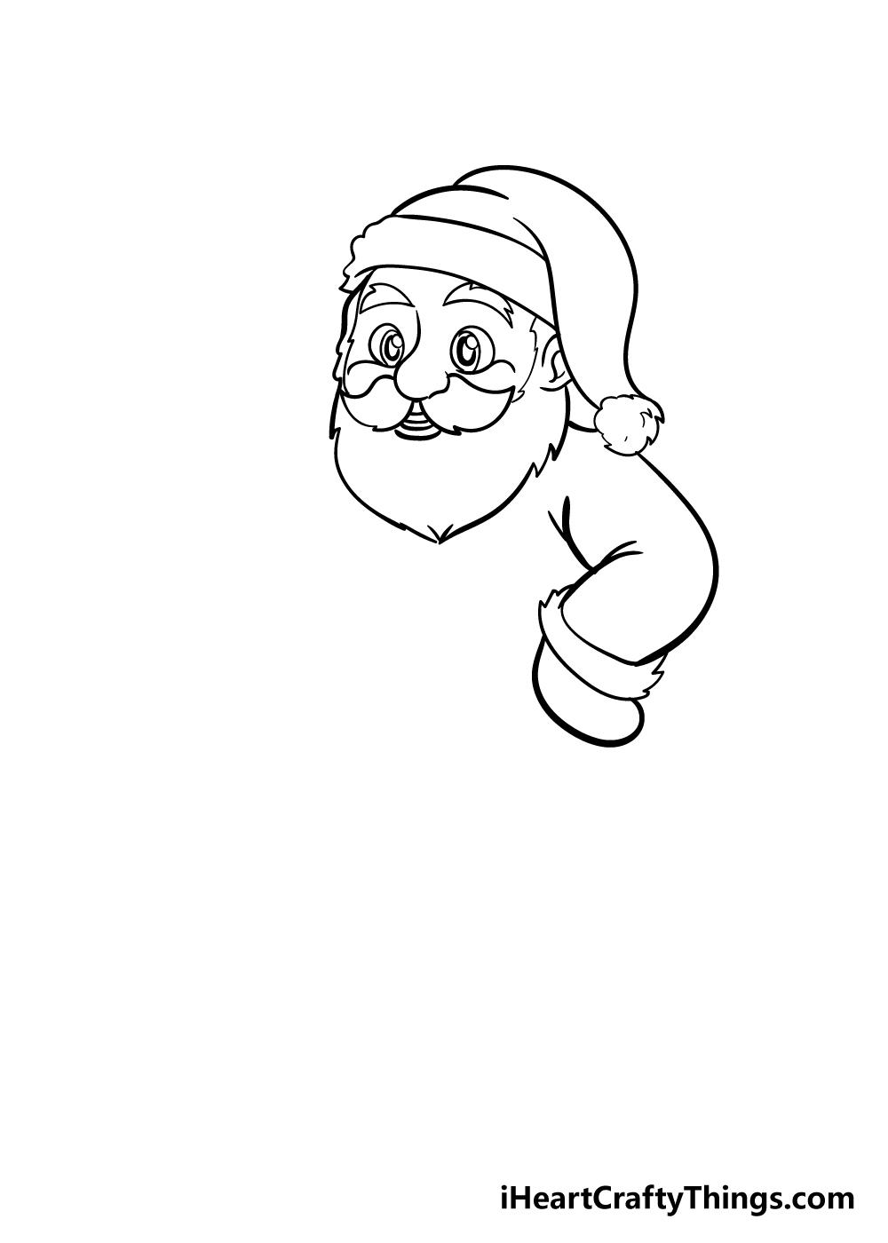 santa drawing step 4
