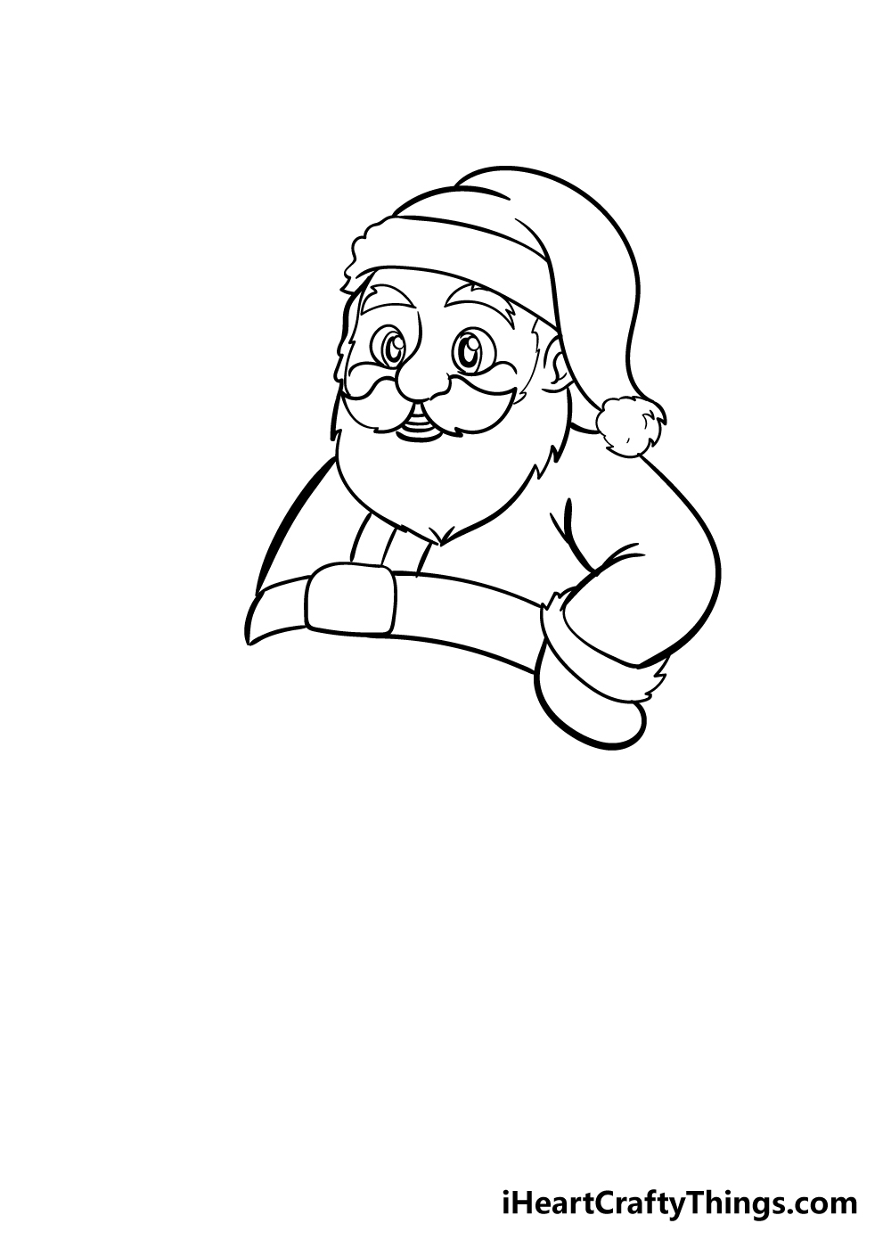 santa drawing step 5