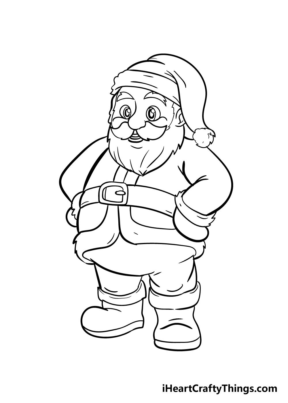 santa drawing step 9