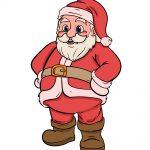 how to draw santa image