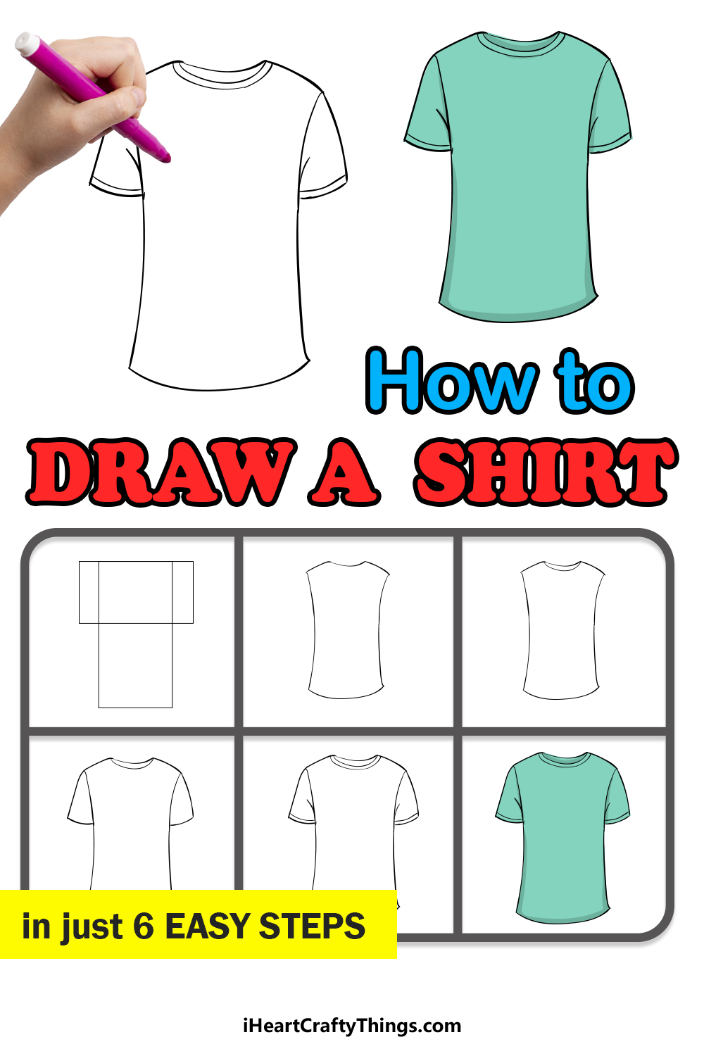 how to draw a shirt in 6 easy steps