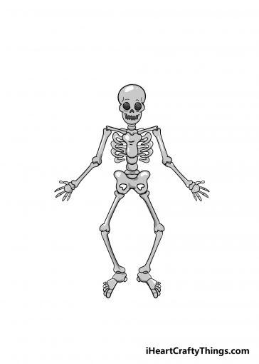 skeleton drawing image